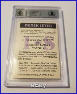 1992 Derek Jeter BGS 9 Little Sun High School Auto Autograph Rookie Rc RARE