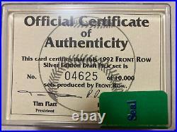 1992 Derek Jeter Front Row Draft Pick Silver Foil #55 PSA 9 10 Complete Set Rare