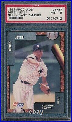 1992 Fleer ProCards Derek Jeter pre-RC PSA 9 Mint. Rare