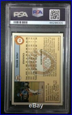 1992 Front Row #55 Gold Derek Jeter PSA 8 Rookie Card Rare Card