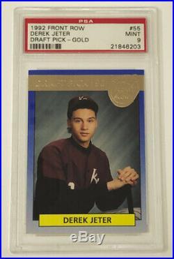 1992 Front Row Derek Jeter Draft Pick Gold #55 Rare! Rookie RC PSA 9