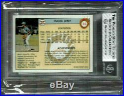 1992 Front Row Draft Picks Gold #55 Yankees Derek Jeter Gold Rc Rare Bgs 7.5