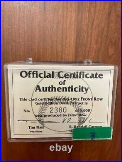 1992 Front Row GOLD Set COA /5000 RARE Derek Jeter RC #55 PSA Ready