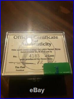 1992 Front Row Gold Edition With H. O. F. Derek Jeter And COA Sealed RARE