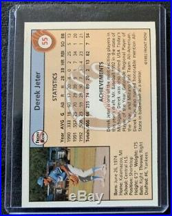 1992 Front Row Gold Set! Derek Jeter Rookie! With COA! Rare