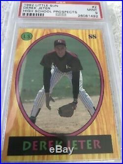 1992 Little Sun #2 High School Prospects Derek Jeter PSA 9 Mint Rare