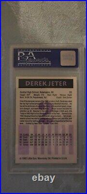 1992 Little Sun Derek Jeter #2 PSA 10 ULTRA RARE HOF