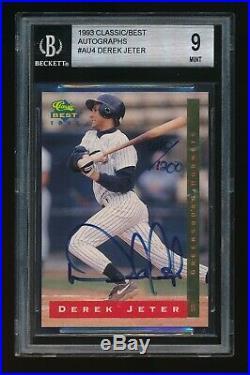 1993 Autographed Derek Jeter Beckett 9 Mint Hornets Rookie, Rare 610/1200