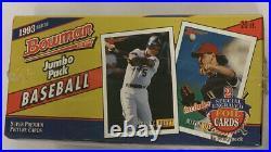 1993 Bowman Baseball Hobby Jumbo Box Factory Sealed Rare 20 Pack