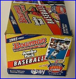 1993 Bowman Baseball MLB Jumbo Box 20 Packs RARE Derek Jeter Rookie Rc