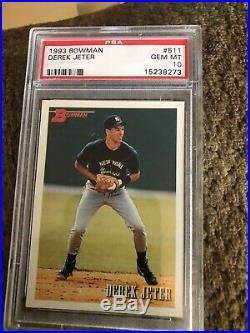 1993 Bowman Derek Jeter #511 PSA 10 Gem Mint Rare Early Rookie Card RC