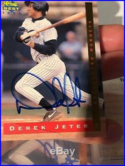 1993 Classic Best 2 Card Lot Derek Jeter RC Autos W & WithO Serial # Rare On Card