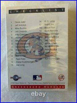 1993 Derek Jeter Sealed Classic Best Greensboro Hornets Team Set Rare
