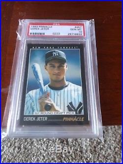 1993 Pinnacle PSA 10 Derek Jeter rookie #457 Yankees Hof Rare