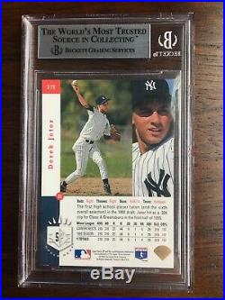 1993 SP Derek Jeter RC BGS 8.5 Beautiful Card! With RARE 9.5 & 9 Subs
