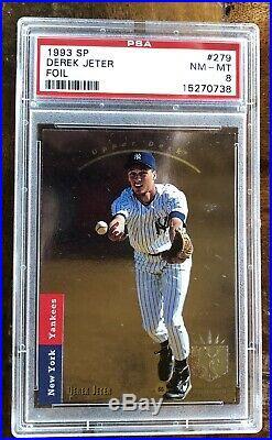 1993 SP Foil Baseball Derek Jeter (RC) #279 PSA 8 YANKEES NM-MT Rare