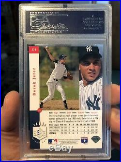 1993 SP Foil Derek Jeter Rookie RC #279 PSA 8.5 NM-MT+ Yankees Rare! Sharp