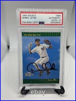 1993 Select Derek Jeter PSA 10 Auto Rare Signed Rookie Card Perfect Autograph