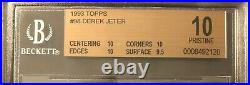 1993 Topps #98 Derek Jeter RC ROOKIE BGS 10 PRISTINE RARE POP 15 of 12K+ graded