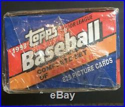 1993 Topps Baseball Factory Sealed Set Rockies Logo Gold Derek Jeter Rc Mt Rare