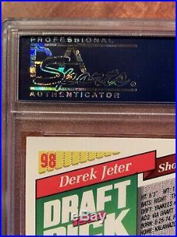 1993 Topps Derek Jeter #98 Marlins Inaugural Rc Psa 9 Mint Rookie Rare Nice