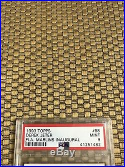 1993 Topps Derek Jeter Fla. Marlins Inaugural Rc #98 Psa 9 Mint Rare