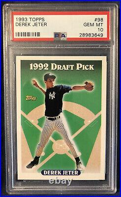 1993 Topps Derek Jeter Rookie #98 RC New York Yankees Rare PSA 10 Gem Mint Hot