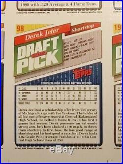 1993 Topps Derek Jeter Rookie Baseball PROMOTIONAL Uncut Sheet. PSA 10 EX-RARE