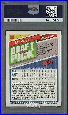 1993 Topps Florida Marlins Inaugural #98 Derek Jeter Yankees RC PSA 10 RARE
