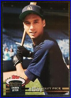 1993 Topps Stadium Club Murphy #117 Derek Jeter NYY Yankees Rookie RC RARE