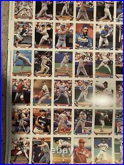 1993 Topps Uncut Sheet of Cards Derek Jeter RC! RARE