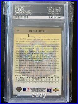 1993 Upper Deck #449 GOLD Hologram PSA 9 Derek Jeter Pop 46 RARE
