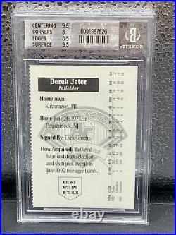 1994 Albany Colonie Derek Jeter NY Yankees Yearbook Card BGS 8.5 Rare