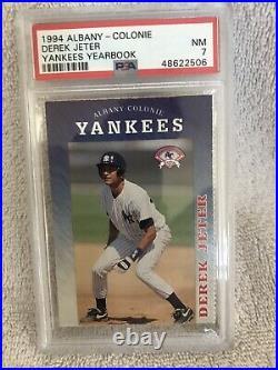 1994 Albany Colonie Derek Jeter PSA 7 Yankees Yearbook Perforated Edge Very Rare