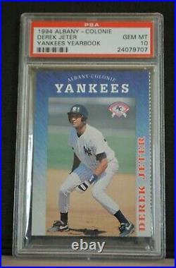 1994 Derek Jeter Albany Colonie Yankees PSA 10 RARE Rookie Pop 21