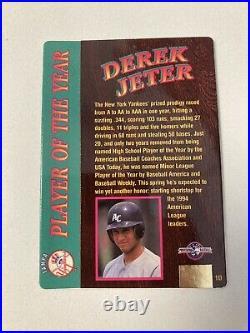 1995 Action Packed 24kt Gold Derek Jeter Diamond Auto 1d Rare