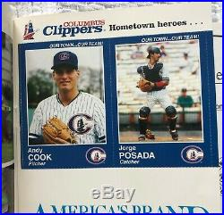1995 Columbus Clippers YANKEES YEARBOOK with DEREK JETER PERFORATED RC MINT RARE