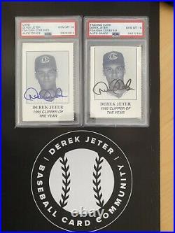 1995 Derek Jeter Columbus Clipper Of The Year Auto PSA Gem Mint 10 RARE Pop 2