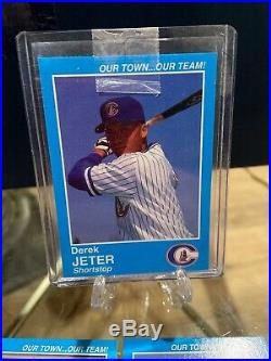 1995 Derek Jeter Columbus Clippers Police Blue! Extremely Rare Whole Set