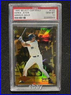 1995 Select Certified Mirror Gold Derek Jeter ROOKIE RC #122 PSA 10 RARE Yankees