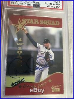 1995 Signature Rookies #3 Auto Derek Jeter PSA 7 Autograph /525 Star Squad Rare