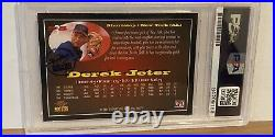 1995 Signature Rookies Star Squad DEREK JETER RC AUTO #'d 92/525 PSA MINT 9 RARE