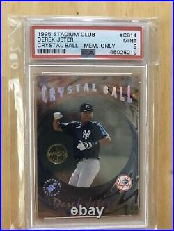 1995 Stadium Club Crystal Ball Members Only cb14 Derek Jeter PSA 9 Pop 14 Rare