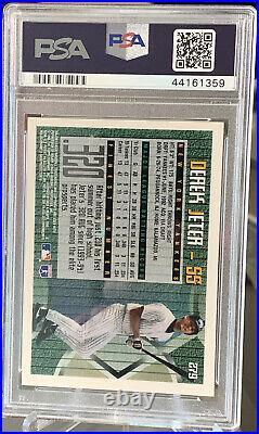 1995 Topps Finest Derek Jeter Rookie #279 Psa 10 Gem Mint Pop 37 Rare Yankees