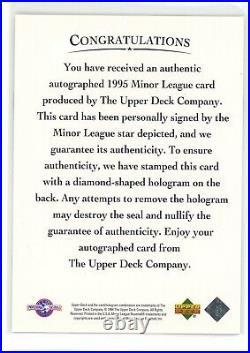 1995 Upper Deck Minors Derek Jeter RC ROOKIE ON CARD AUTO AUTOGRAPH RARE