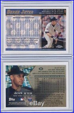 1996 & 1998 Topps Chrome Rookie Derek Jeter Refractor SP Lot rare #80 & #160