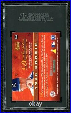 1996 Derek Jeter Select Certified Mirror Red Rookie SGC 10 Gem Mint Super Rare