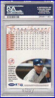1996 Fleer Tiffany Update #u226 Derek Jeter PSA 9 Rare Version