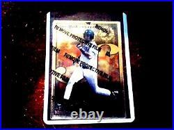 1996 Leaf Steel Derek Jeter GOLD PROMO with protective peel Yankees RARE