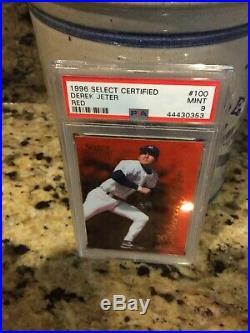 1996 Select Certified RED #100. DEREK JETER. PSA 9 Rare Card